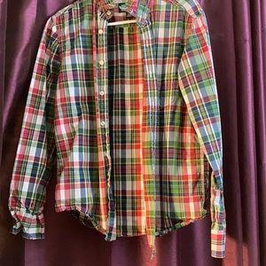 American eagle unisex plaid cotton shirt S